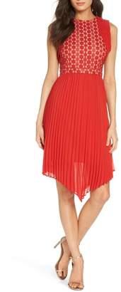 Foxiedox Nealea Pleated Sheath Dress