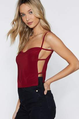 Nasty Gal Whose Side Are You On Cut-Out Cami Top