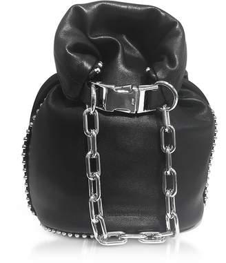 Alexander Wang Attica Black Nappa Soft Dry Bucket Bag w/Ball-chain