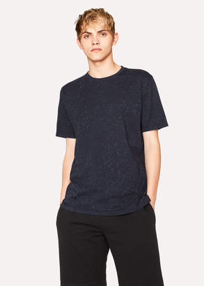 Paul Smith Men's Navy 'Paint Splash' Print Cotton T-Shirt