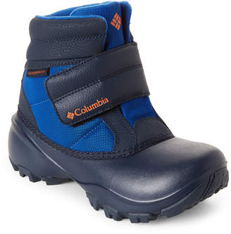 Columbia Kids Boys) Azul & Heatwave Rope Tow Waterproof Boots