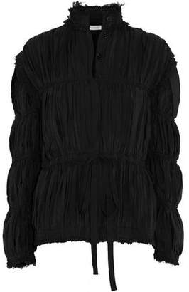 J.W.Anderson Frayed Ruched Crepe De Chine Jacket