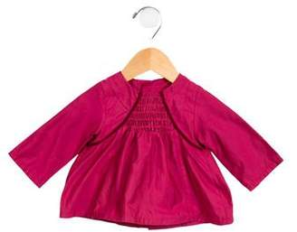 Catimini Girls' Velvet-Trimmed Top