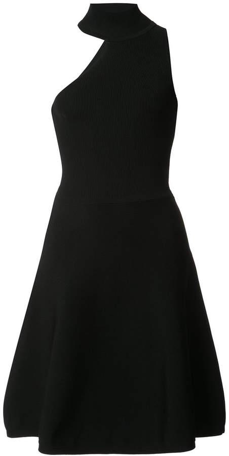 Cushnie et Ochs high neck asymmetric cut out dress