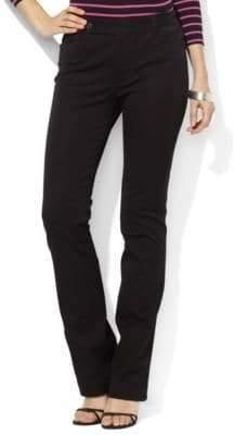Lauren Ralph Lauren Petite Twill Straight-Leg Pants