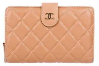 Chanel Quilted Compact Wallet