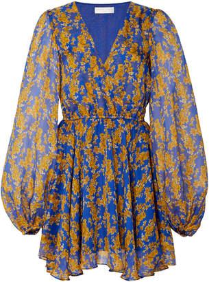 Caroline Constas Olena Floral-Print Silk-Chiffon Mini Dress