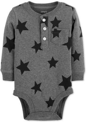 d0d6495bbf12 ... Carter s Baby Boys Star-Print Cotton Henley Bodysuit