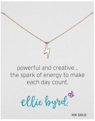 Lightning Bolt ellie byrd 10k Gold Necklace
