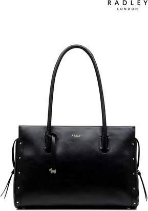 Next Womens Radley Black Large Tote Shoulder Zip Top Bag