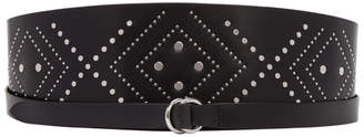 Isabel Marant Black Cajou Mini Studs Belt