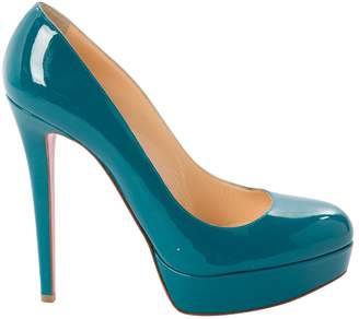 Christian Louboutin Bianca Turquoise Patent leather Heels