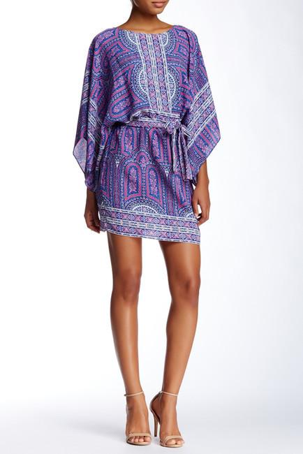 BCBGMAXAZRIABCBGMAXAZRIA Dolman Woven Border Dress