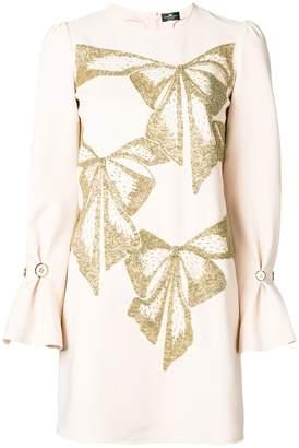 Elisabetta Franchi embellished bows dress