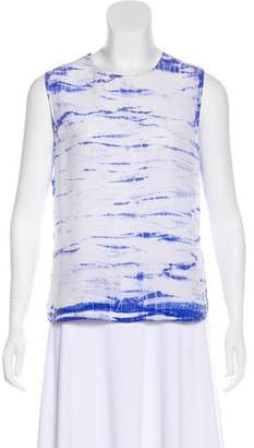 Equipment Silk Tie-Dye Sleeveless Top