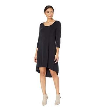 Mod-o-doc Cotton Modal Spandex Jersey High-Low Hem Dress with Keyhole Back