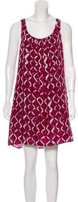 Velvet Printed Racerback Dress