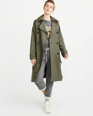 Abercrombie & Fitch Belted Drapey Trench Coat