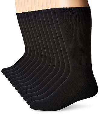 Hanes Men's Big and Tall Active Cool 12-Pack Crew Socks