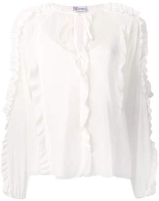 RED Valentino long-sleeve ruffled blouse