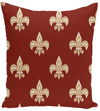 E By Design 16 Inch Rust and Yellow Decorative Floral Throw Pillow
