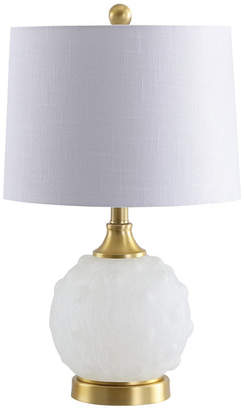 "Jonathan Y Ilsa 22"" Dotted Glass,Metal LED Table Lamp"