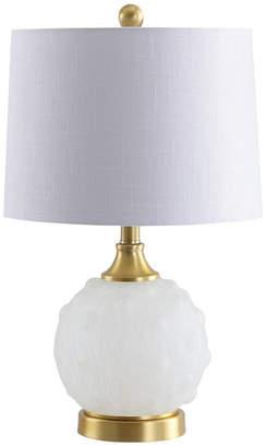 "Jonathan Y Ilsa 22"" Dotted Glass,Metal LED Table Lamp"