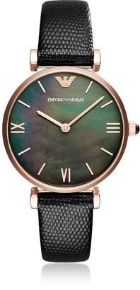 Emporio Armani Gianni T-Bar Black Women's Watch
