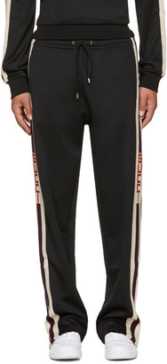 Gucci Black Logo Tape Track Pants $980 thestylecure.com