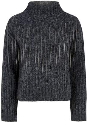 Fabiana Filippi Embellished Turtleneck Sweater