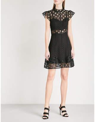 Sandro Cutout embroidered lace mini dress