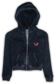 True Religion Girl's French Terry Crafted With Pride Hoodie $89 thestylecure.com