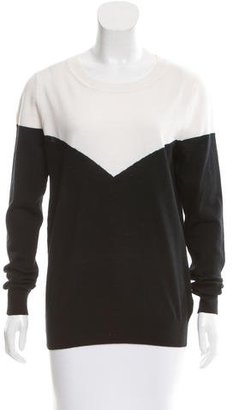 Sandro Wool Colorblock Sweater $75 thestylecure.com