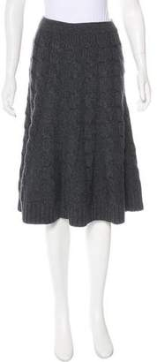 Michael Kors Merino Wool & Cashmere Cable Knit Skirt w/ Tags