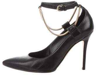 Brian Atwood Pointed-Toe Ankle-Strap Pumps Black Pointed-Toe Ankle-Strap Pumps