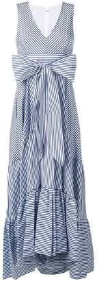P.A.R.O.S.H. striped bow maxi dress