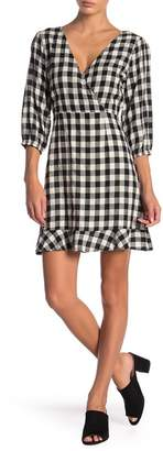 LE LIS Gingham Back Tie Dress