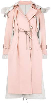 Sacai panelled trench coat
