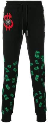 Philipp Plein Green Money track pants