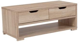Flash Furniture Howell Collection Coffee Table with Storage Drawers in Sonoma Oak Wood Grain Finish