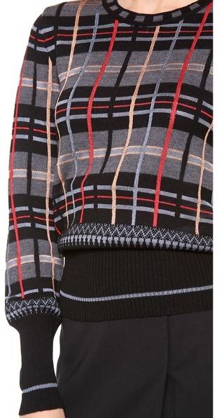 Jean Paul Gaultier Plaid Sweater