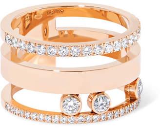 Möve Messika Romane Large 18-karat Rose Gold Diamond Ring