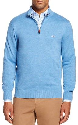 Vineyard Vines Pima Cotton Quarter Zip Sweater $135 thestylecure.com