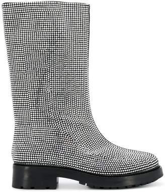 Strategia crystal embellished boots