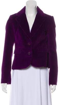 Tara Jarmon Corduroy Notch-Lapel Blazer w/ Tags