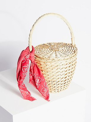 Straw Basket by Free People $68 thestylecure.com