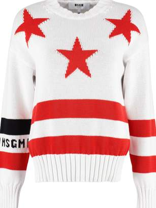 MSGM Stripes And Stars Cotton Sweater