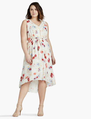 Lucky Brand FLORAL PRINTED MAXI DRESS