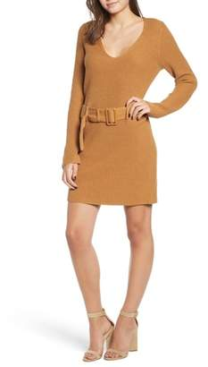Leith Belted Sweater Dress