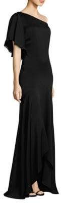 Shoshanna One-Shoulder High-Low Gown